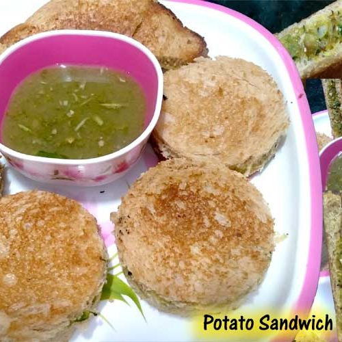 sandwich and karonda chutney
