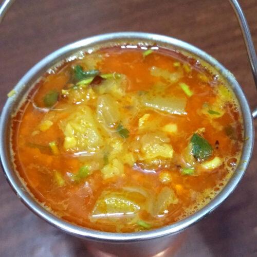 Lauki Chana Dal Ki Sabzi - Lauki Curry with Chana Dal .