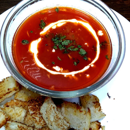 Easy Tomato Soup Recipe | Tomato Garlic Soup | How to